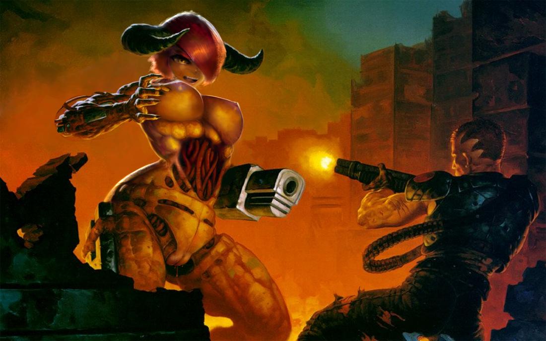 Подборка по Doom Большие сиськи, Большие члены, По играм,