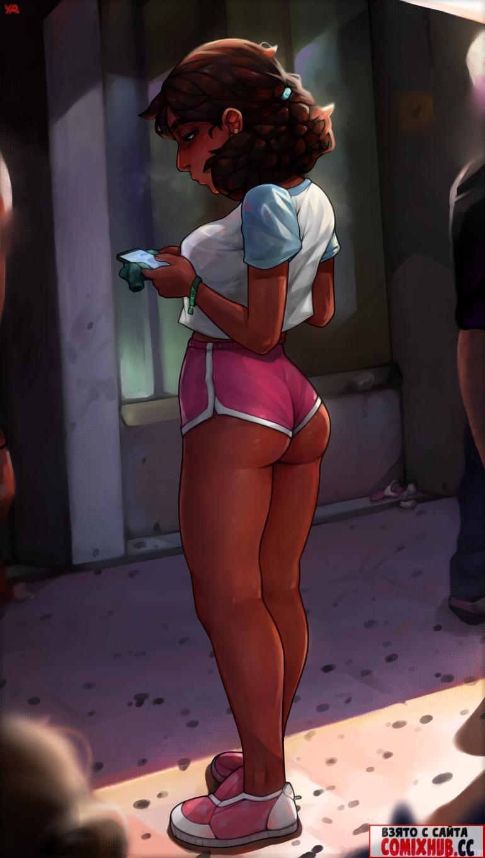 Порно комиксы — Короткие шортики Конни Большие члены, Двойное проникновение, Минет,