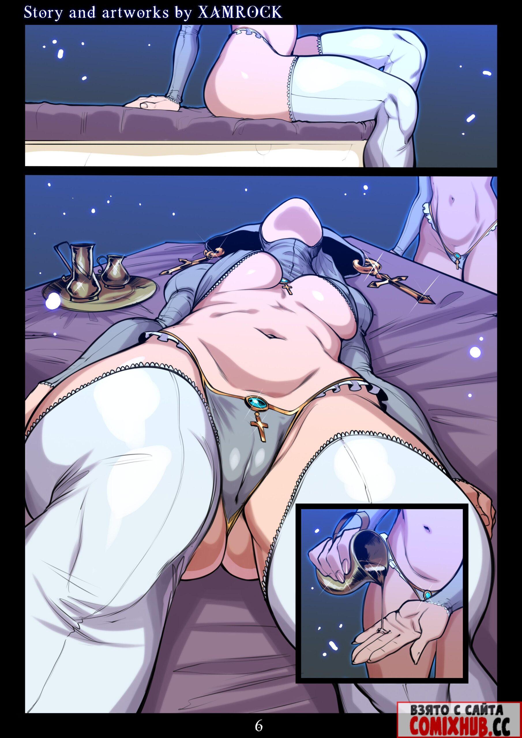 Порно комиксы - Злая Чародейка, часть 2 Большая грудь, Большие члены, Лесбиянки, Минет, Порно комиксы
