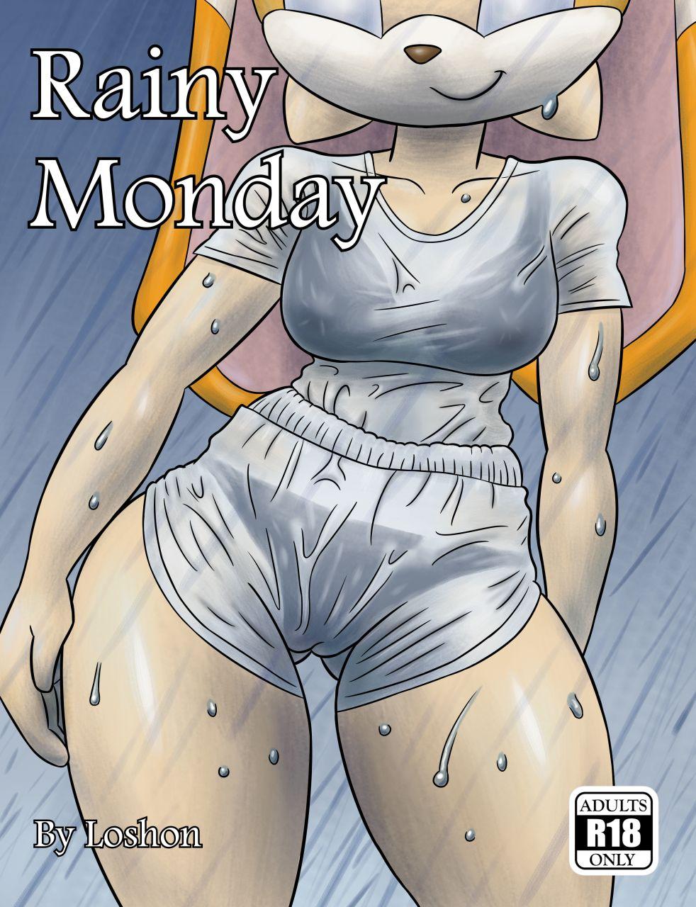 Дождливый понедельник, Соник - порно комиксы Без цензуры, Большая грудь, Герои из мультиков, Мастурбация, Минет