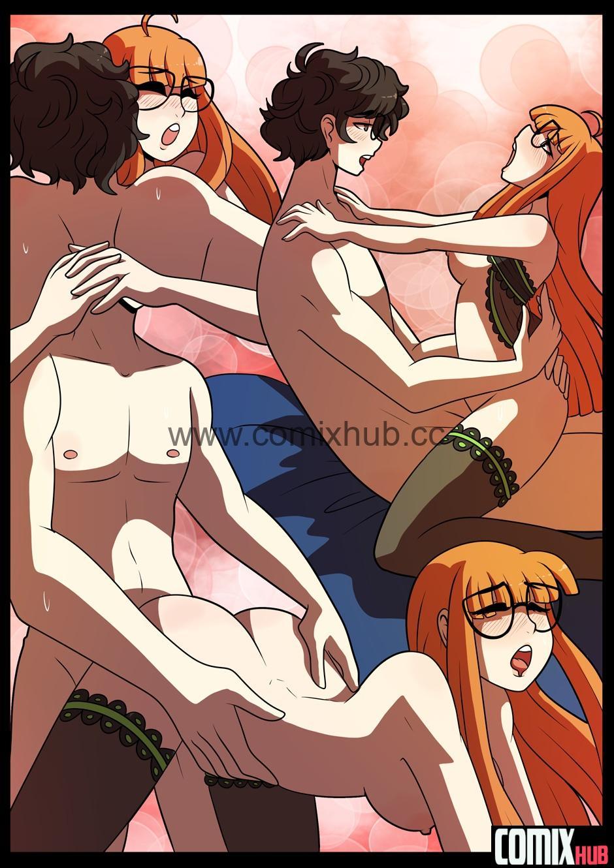 Порно комикс, То, что должна делать девушка, да? Порно комиксы, Без цензуры, Большая грудь, Минет