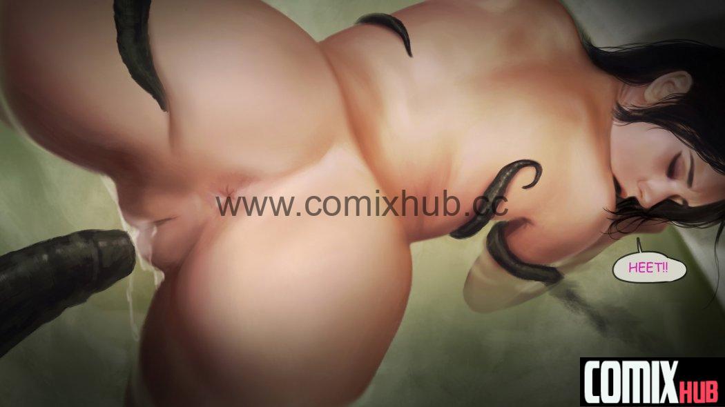 Йеннифер и Тентакли Порно комиксы, Без цензуры, Большая грудь, Двойное проникновение, Мастурбация, Монстры, По играм