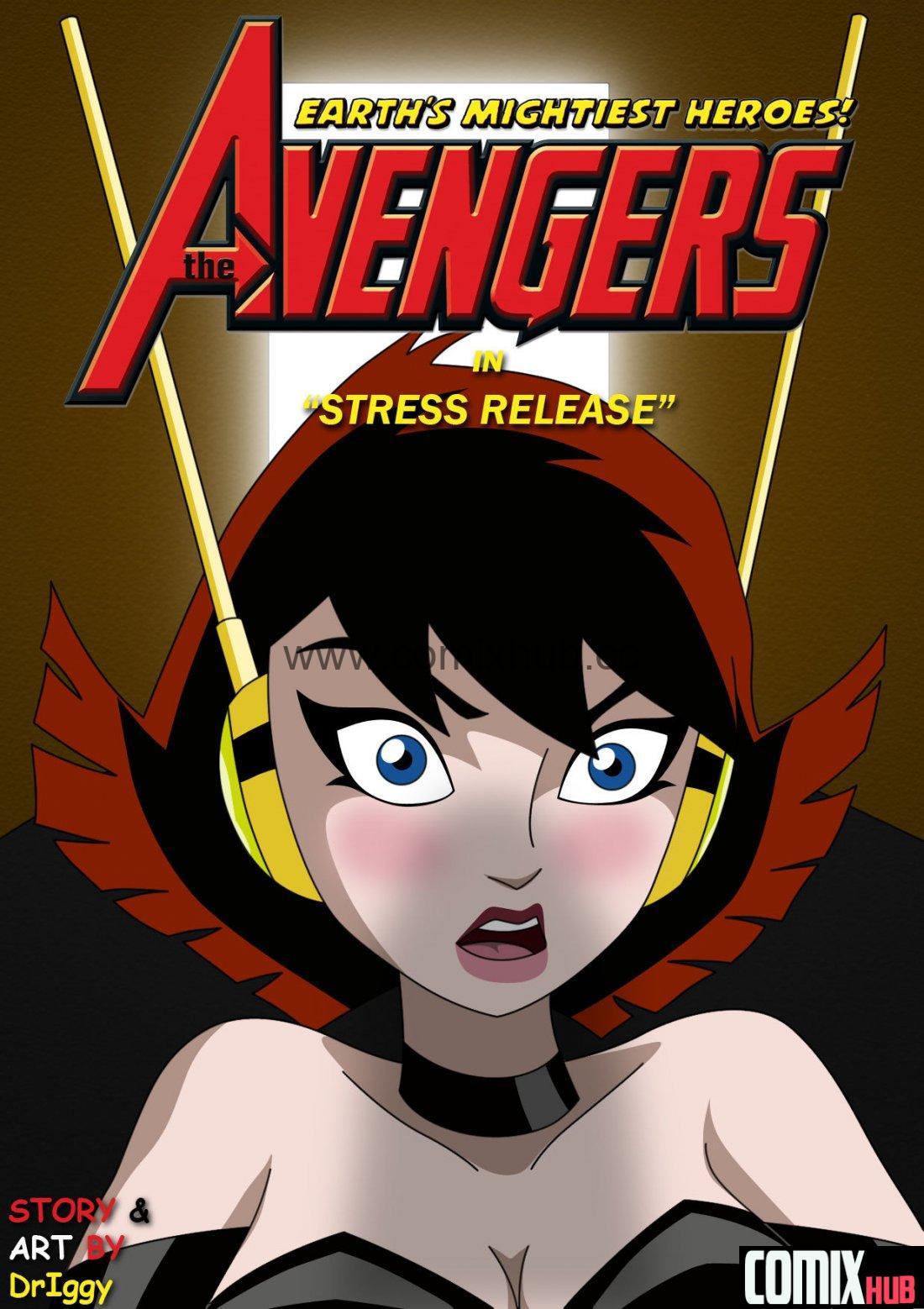 Снятие стресса, супер-герои, порно комикс Порно комиксы, Большие члены, Минет, Монстры, Супер-герои