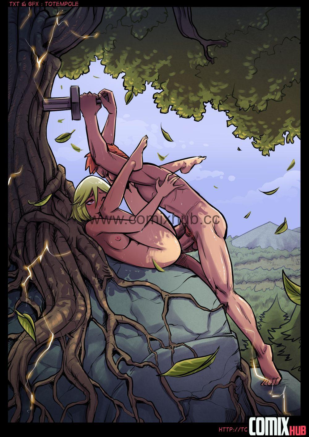 Порно комикс, Волшебница, часть 19. Демонический контракт Порно комиксы, Анал, Мастурбация, Минет, Монстры